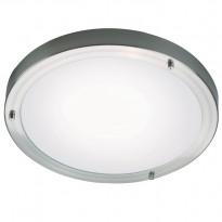 Katto/seinävalaisin Ancona Maxi LED IP43/44, Ø310x60mm, harjattu teräs