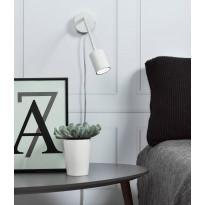Seinävalaisin LED Explore Flex, Ø55x240mm, valkoinen