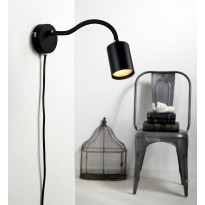 Seinävalaisin LED Explore Flex, Ø55x240mm, musta