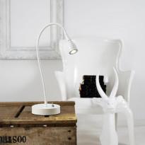 Pöytävalaisin LED Mento, Ø35x390mm, valkoinen