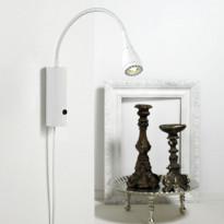 Seinävalaisin LED Mento, Ø35x220mm, valkoinen