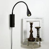 Seinävalaisin LED Mento, Ø35x220mm, musta