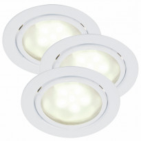Kalustevalosarja Mercur 3-Kit LED, Ø66x30mm, 3kpl, valkoinen