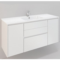 Kylpyhuonekaluste Noro Lifestyle Concept 1200, pesualtaalla, laatikostolla ja sivukaapeilla, korkea, Verkkokaupan poistotuote