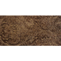 EH Solid Jet Damasco Marron Decor 25x50cm