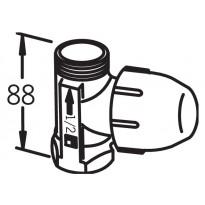 Patteriventtiili Oras Stabila, DN15, suurteho, suora, ilman liitintä