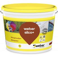 Silikonihartsipinnoite Weber Silcopinnoite+ Piirto 2mm, valkoinen, 25kg