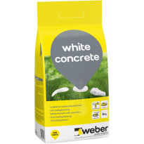 Valkobetoni Weber White Concrete, 5kg