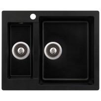 Keittiöallas Teno, 610x495, 1,5-altainen, oikea, musta