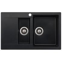 Keittiöallas Teno, 800x495, 1,5-altainen laskutasolla, oikea, musta