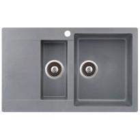 Keittiöallas Teno, 800x495, 1,5-altainen laskutasolla, oikea, harmaa, Verkkokaupan poistotuote