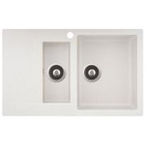 Keittiöallas Teno, 800x495, 1,5-altainen laskutasolla, oikea, valkoinen