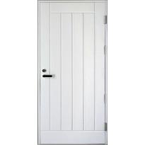 Ulko-ovi Kaskipuu UO1  1.0 9-10x21, karmi 115mm, valkoinen