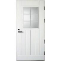 Ulko-ovi Kaskipuu UOL1 1.0 9x19-20  karmi 115mm, valkoinen
