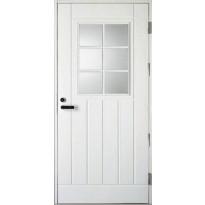 Ulko-ovi Kaskipuu UOL1 1.0 9x21,  karmi 115mm, valkoinen