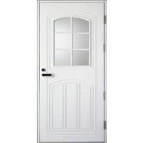 Ulko-ovi Kaskipuu UOL2, 1.0 9-10x21, karmi 115mm, valkoinen