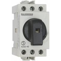 Pääkytkin Malmbergs 40A 3-napainen 2 moduulia