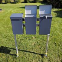 Pate-Postilaatikkoteline PP-Tuote, 3-laatikkoa, jatko-osa