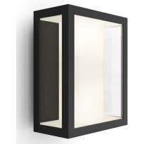 Ulkoseinävalaisin Philips Hue Impress WACA EU LED, 8W, IP44 240x117x190mm, musta/lasi, Verkkokaupan poistotuote