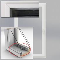 Tuuletusikkunavarustus ja hyttysverkko alumiinikehällä