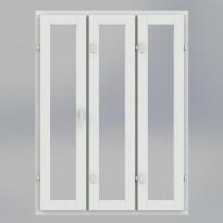 Pihla Varma 2+1 lasinen perusikkuna, DT-malli, 3-osainen, tasajaollinen