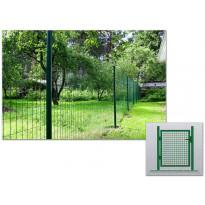 Verkkoaidan käyntiportti, korkeus 125 cm, vihreä tai harmaa
