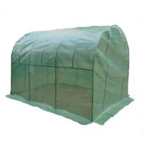 Kalvokasvihuone 5,3m², teräsrunko, vihreä muovikate