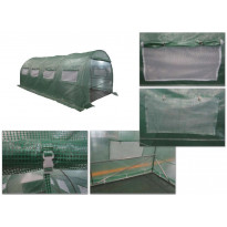 Kalvokasvihuone Pro 12,5m², teräsrunko, muovikate