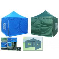 Pop-Up teltta, 3x4,5m, alumiinirunko, sininen tai vihreä