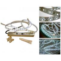 LED-valonauha vesitiivis, 5m, IP67, vesitiivis muuntaja, lämminvalkoinen