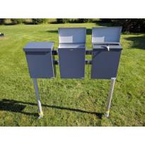 Pate-Postilaatikkoteline PP-Tuote, 3-laatikkoa, perusosa