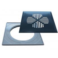 Lattiakaivonkansi PP-Tuote Apila, RST/graniitin harmaa, vakioasennuskehyksellä 197 x 197 mm