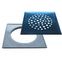 Lattiakaivonkansi PP-Tuote Pallo, RST/graniitin harmaa, vakioasennuskehyksellä 197 x 197 mm