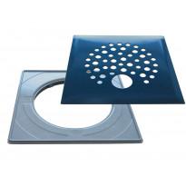 Lattiakaivonkansi PP-Tuote Pallo putkelle, RST/graniitin harmaa, vakioasennuskehyksellä 197 x 197 mm