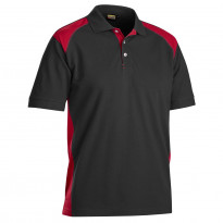 Pikeepaita Blåkläder 3324, musta/punainen
