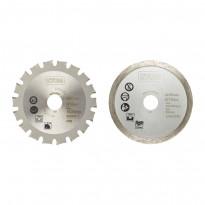 Monitoimisahanterät Ryobi RAKMMS02K, 85mm, 2kpl, puu/metalli/kaakeli