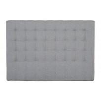 Sängynpääty Oskarshamn tikattu matala 125x180 cm harmaa