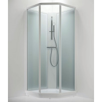 Suihkukaappi BRIC 2 kirkaslasi(etu), frost (takaseinä), vasenmalli, 700 x 900mm