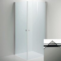 Suihkunurkkaus INR LINC Angel, savu lasi/valkoinen, eri kokoja