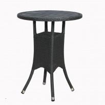 Parvekepöytä Espresso, polyrottinkinen kesäkaluste, musta, harjattu/polywood