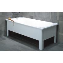 Kylpyamme Emaliamme 160x70cm, valkoinen, Sisältää etu- ja päätylevyt, Verkkokaupan poistotuote
