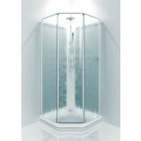 Suihkukaappi Fasett, 90x90, valkoinen/chinchilla