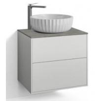 Allaskalustepaketti Svedbergs DK Fyn-malja-altaalla, 60x45cm, 2 ltk, push open, box two+, valkoinen, Verkkokaupan poistotuote