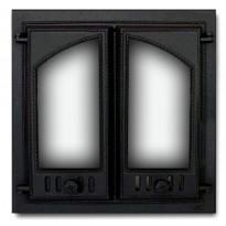 Takkaluukku 403, 2-ovinen puoliholvikaari, 410x410mm,