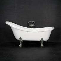 Kylpyamme Madeleine, 215l, 1745x800mm, valkoinen, kromiset jalat