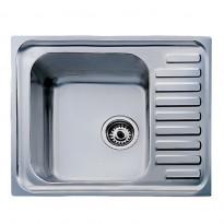 Keittiöallas Classic 1B, 1-altainen, valutustasolla, 650x500mm, teksturoitu rst