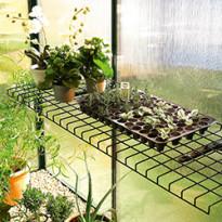 Taittuva teräslankahylly vihreä 40x120 cm 5452