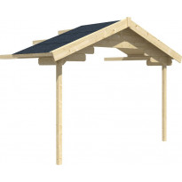Terassin katos Trondheim/Stavanger lomamajoille, vahvuus 45mm, 380x200cm (7,6m²)