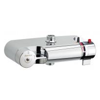 Kylpy / suihkutermostaatti, 1/2, ilman peitelevyjä ja epäkeskoliittimiä, kromi (27650)