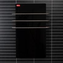 Kylpyhuonelämmitin ja pyyhekuivain Redwood, 50x70cm, 500W, musta